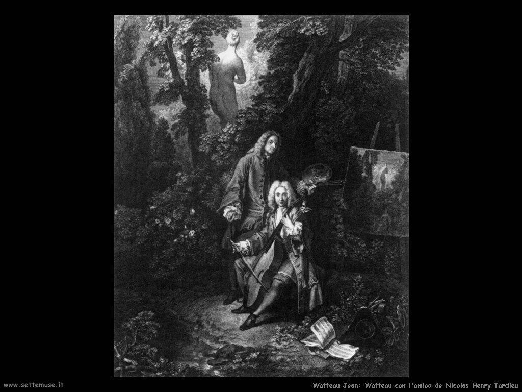 Il pittore con amici Watteau Jean Antoine