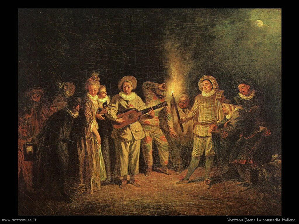 La commedia italiana Watteau Jean Antoine
