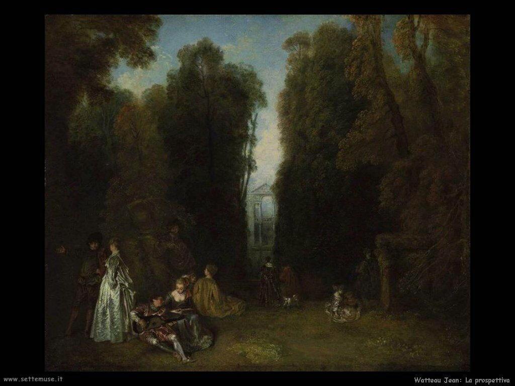La prospettiva Watteau Jean Antoine