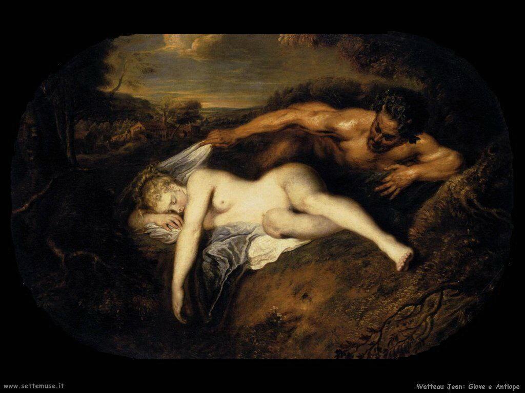 Giove ed Antiope Watteau Jean Antoine