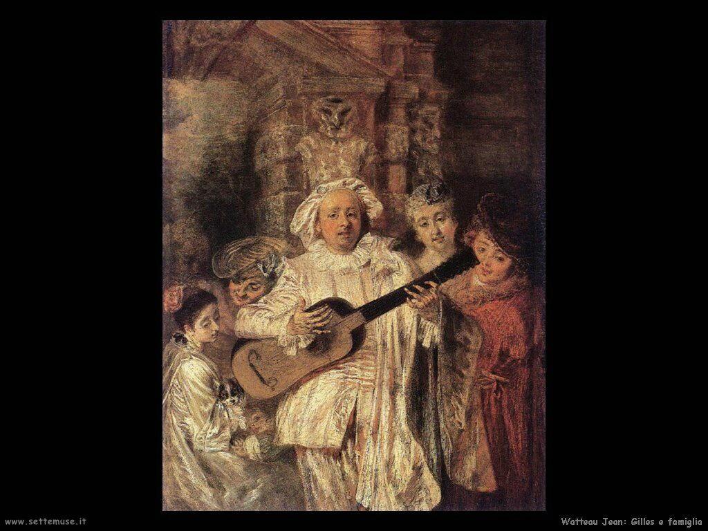 Gilles e la sua famiglia Watteau Jean Antoine