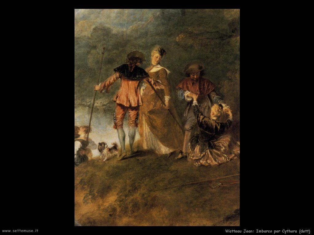 L'imbarco per Citera (dettaglio) Watteau Jean Antoine