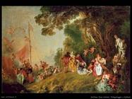 Pellegrinaggio a Citera (dettaglio) Watteau Jean Antoine