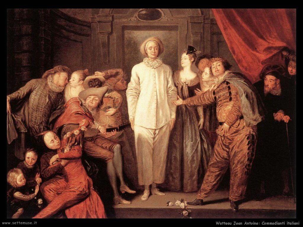 Commedianti italiani Watteau Jean Antoine
