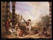 Il fascino della musica nella vita Watteau Jean Antoine
