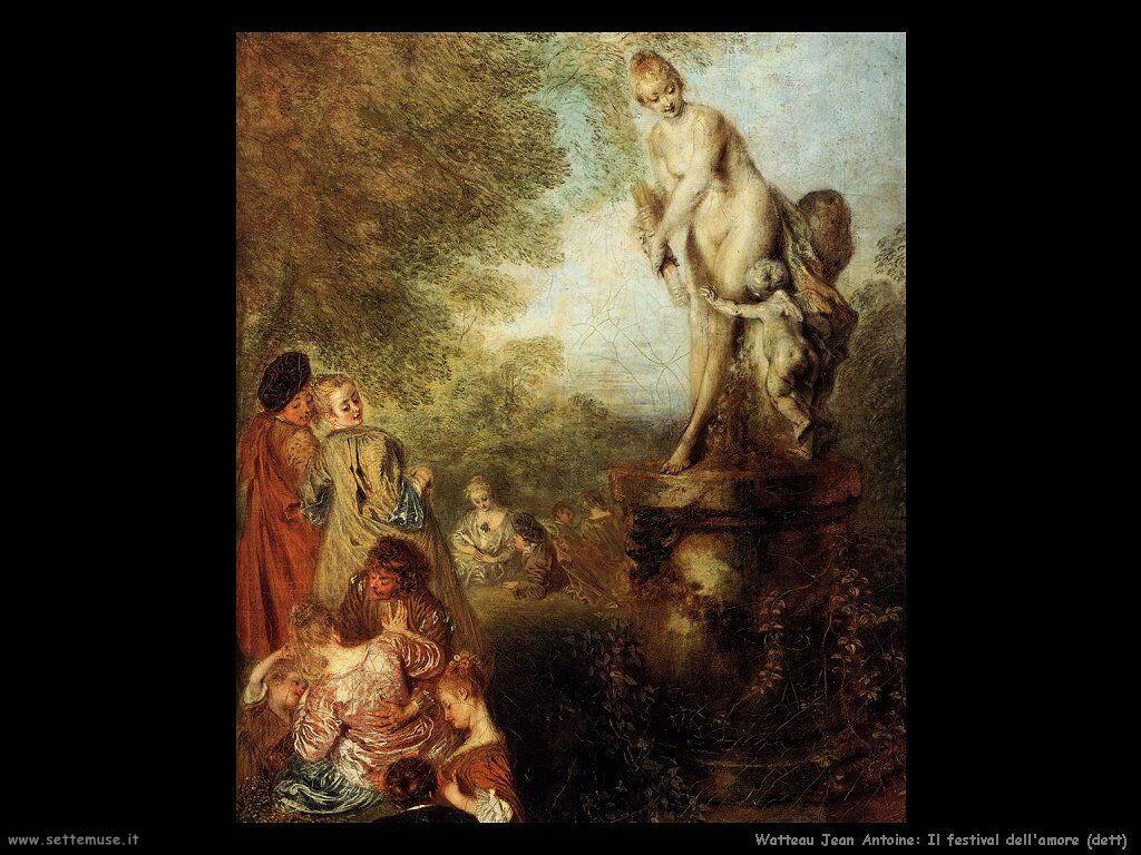 Il festival dell'amore Watteau Jean Antoine