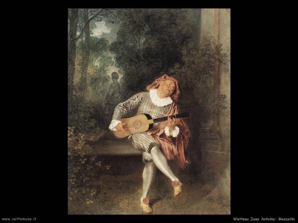 Mezzetin Watteau Jean Antoine