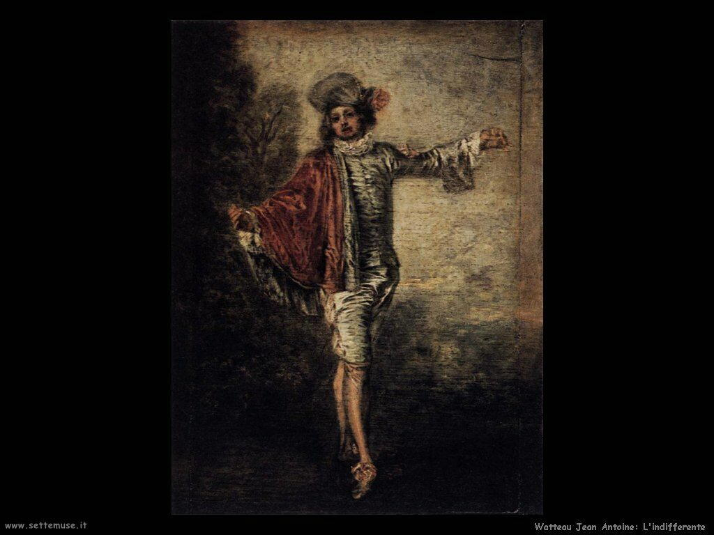 L'indifferente Watteau Jean Antoine