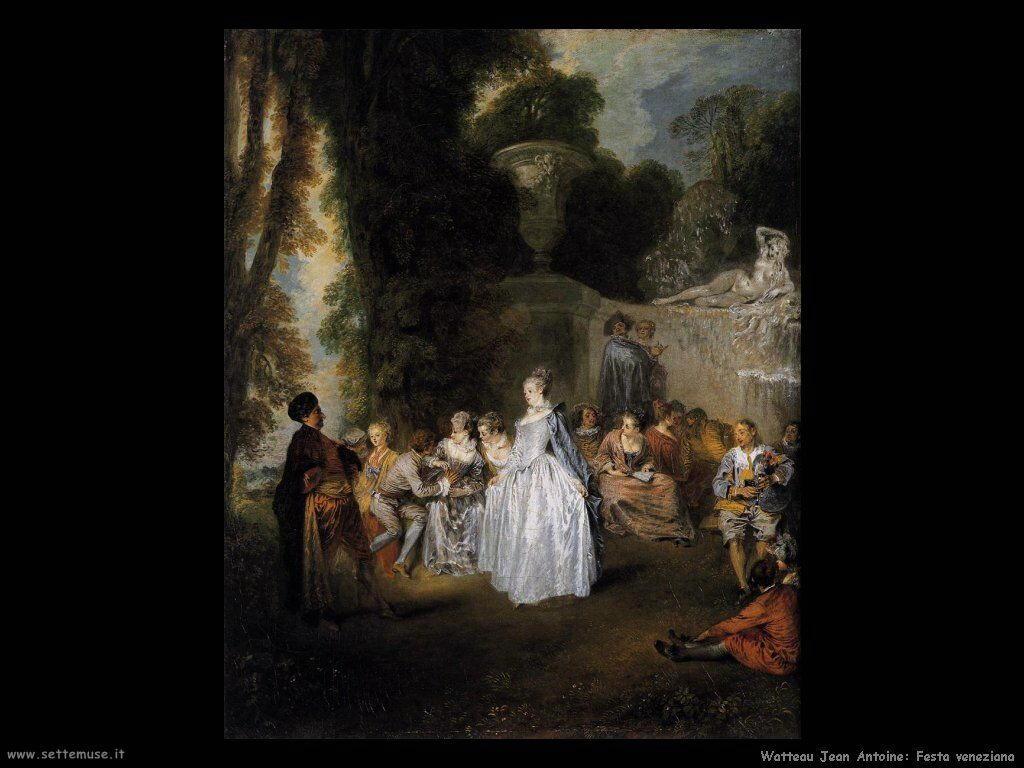 Festa veneziana Watteau Jean Antoine