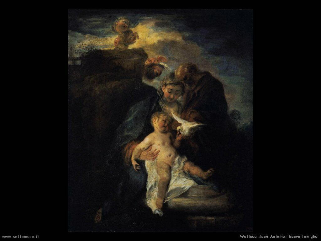 La Sacra Famiglia Watteau Jean Antoine