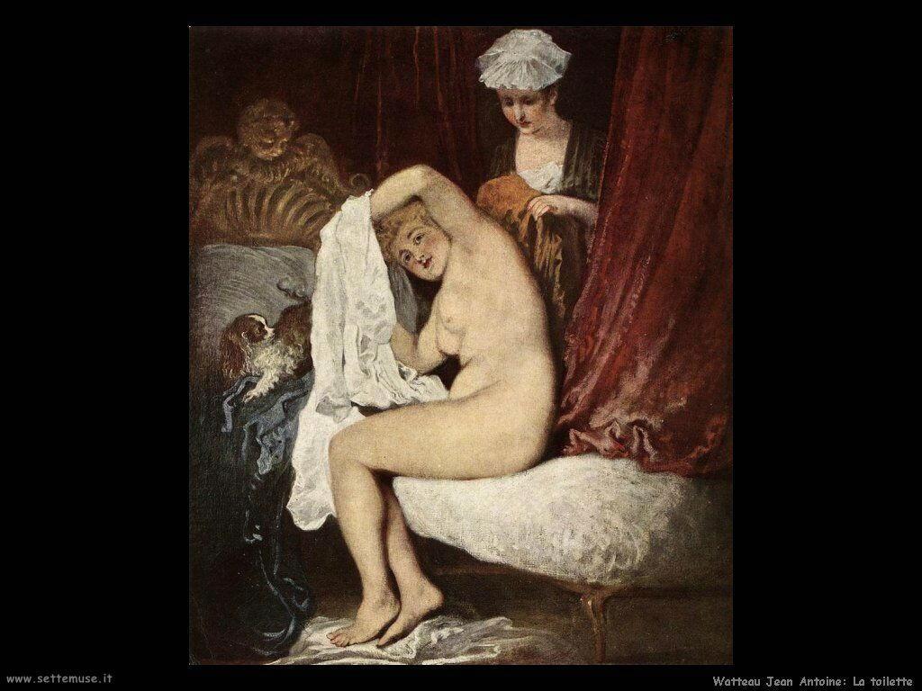La toilette Watteau Jean Antoine