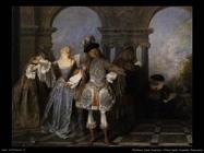 La commedia francese Watteau Jean Antoine