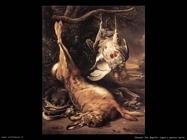 Lepre morta e pernici Weenix Jan Baptist