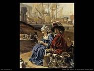 Un porto di mare italiano (particolare) Weenix Jan Baptist
