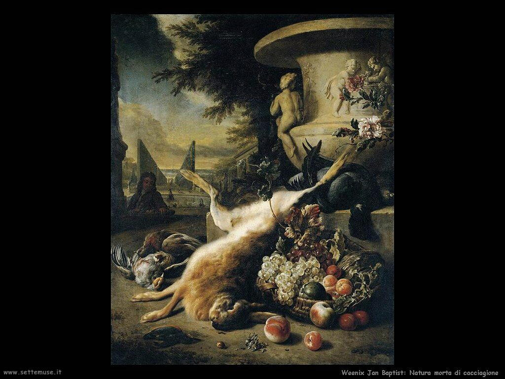 Natura morta di cacciagione Weenix Jan Baptist