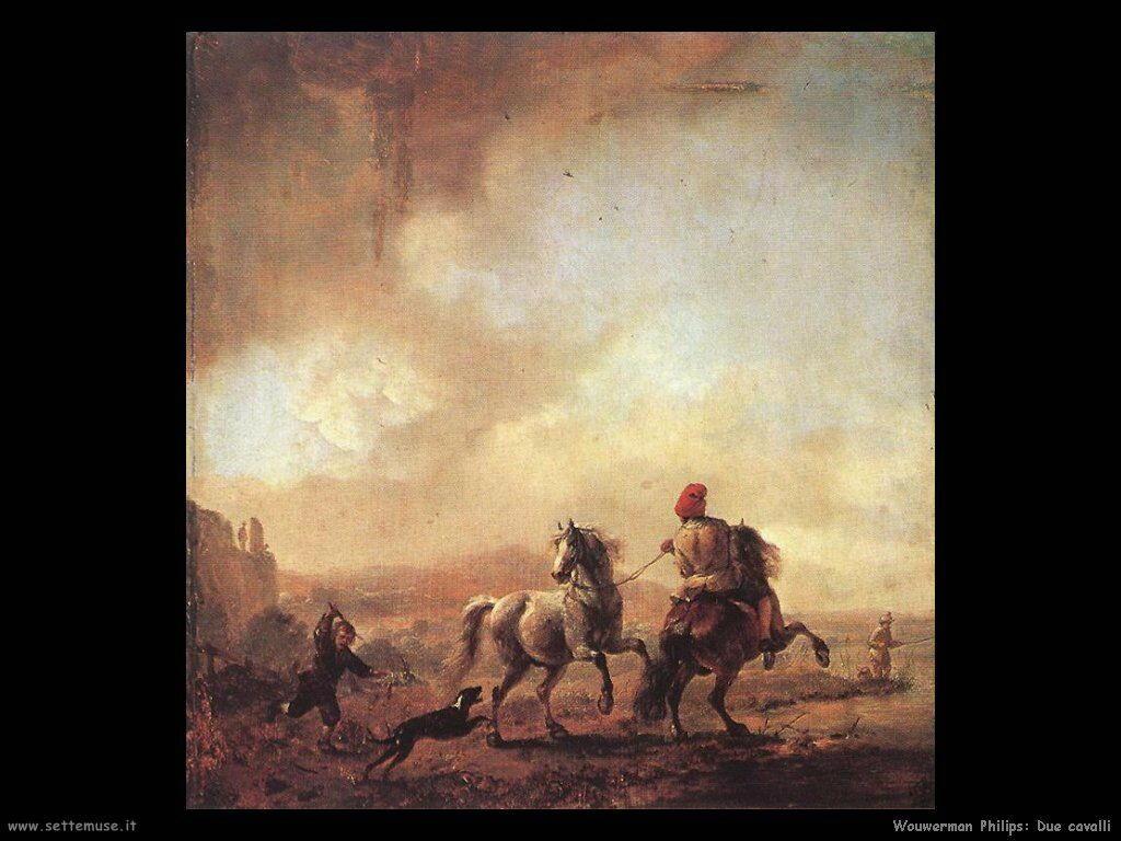 Due cavalli Wouwerman Philips