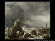 Naufragio nel mare in tempesta Wouwerman Philips
