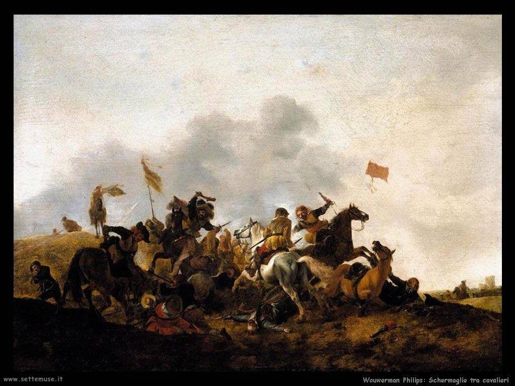 Scontro di cavalleria Wouwerman Philips