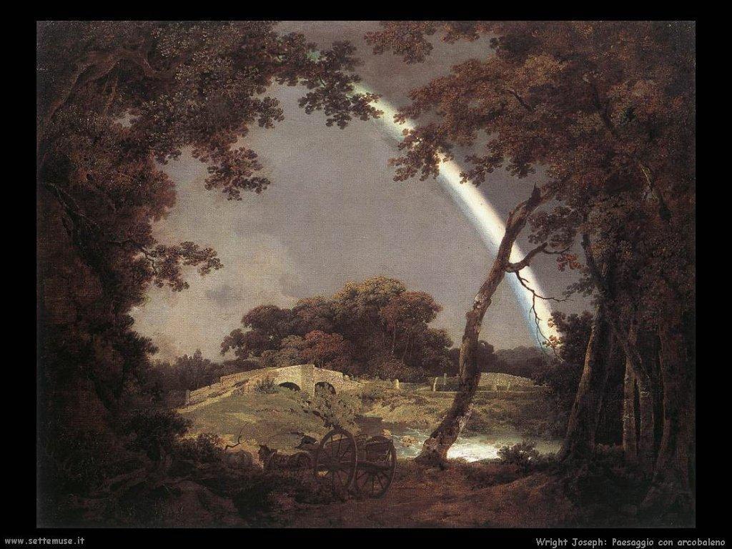 Paesaggio con arcobaleno Wright Joseph