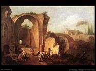 Zais Giuseppe  Paesaggio con rovine e arco