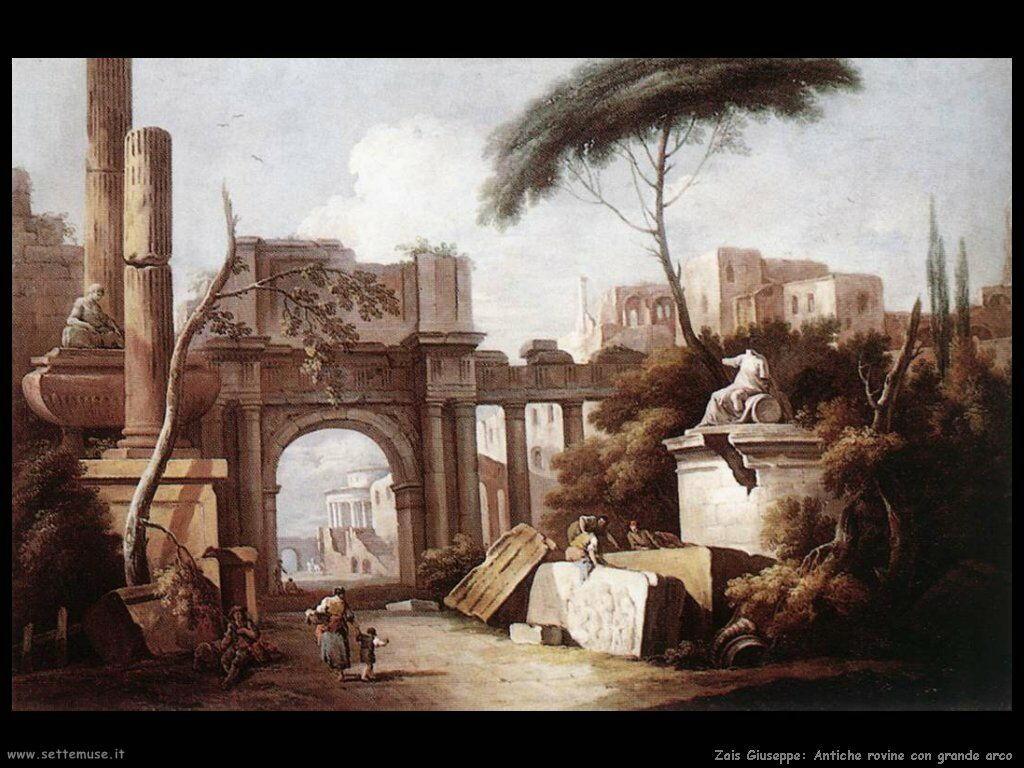 Zais Giuseppe Antiche rovine con grande arco