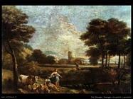Zais Giuseppe Paesaggio con pastori e
