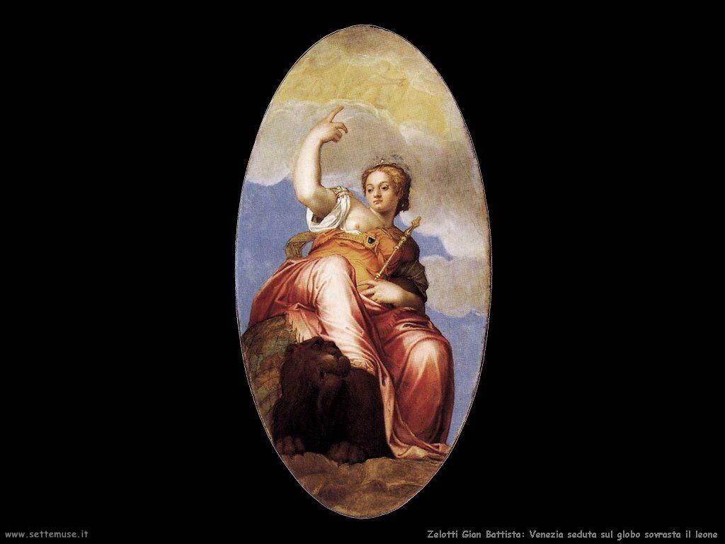 Zelotti Gian Battista Venezia sul globo sovrasta il leone