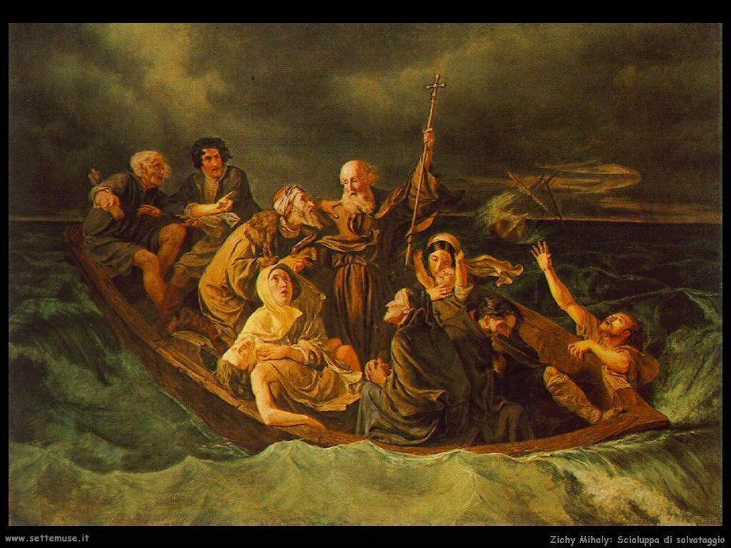 Zichy Mihaly Scialuppa di salvataggio