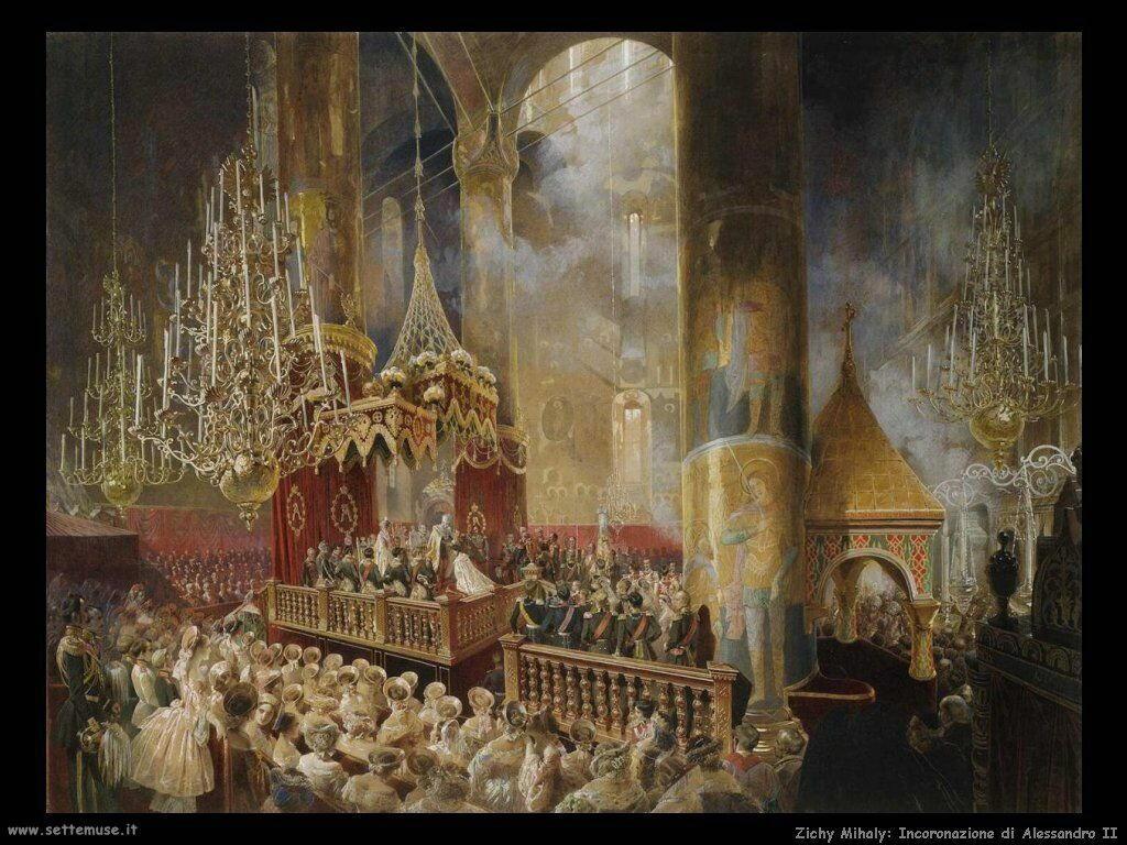 Zichy Mihaly Incoronazione di Alessandro II