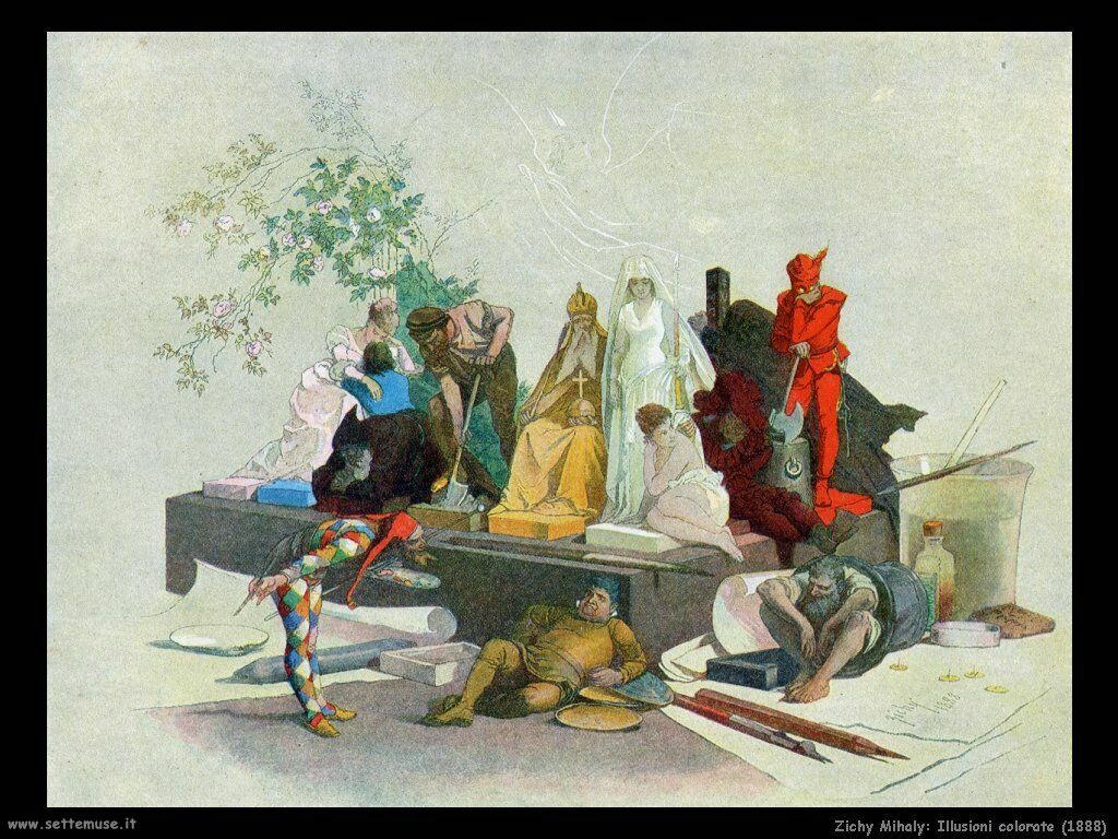 Zichy Mihaly Illusioni colorate (1888)