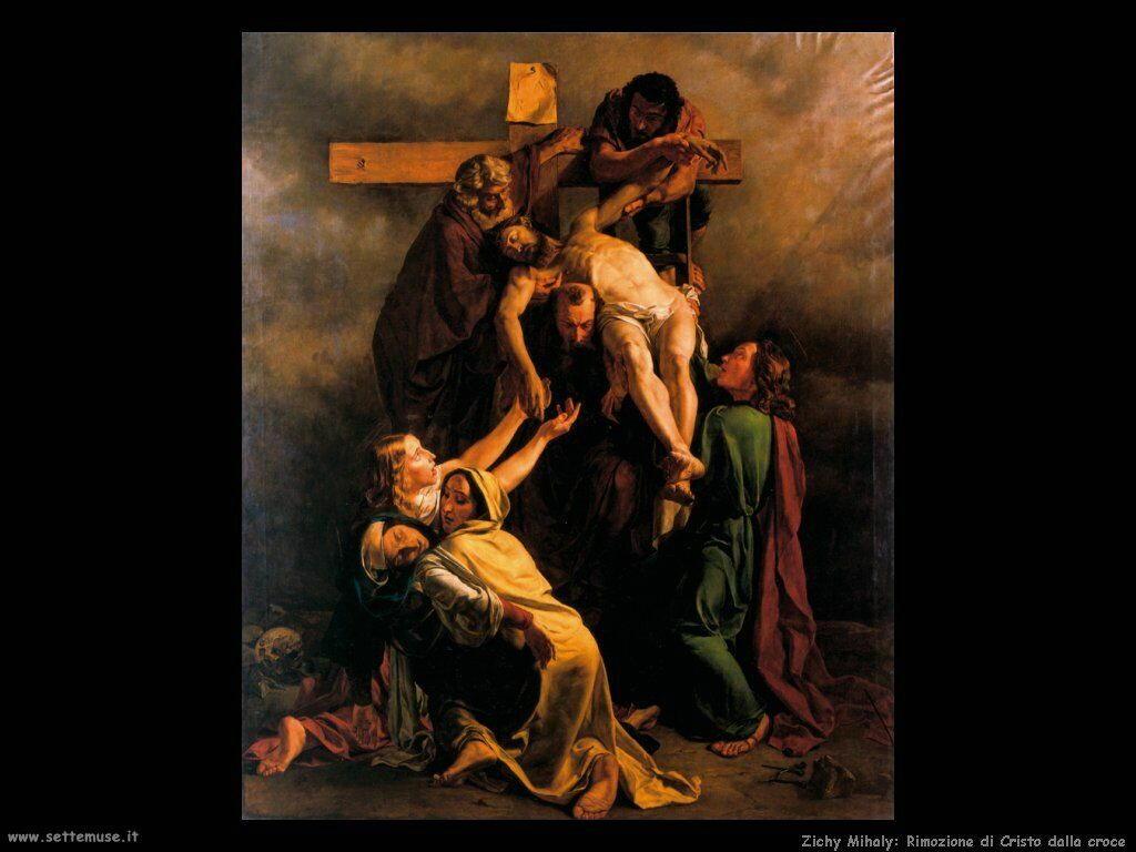 Zichy Mihaly Rimozione di Cristo dalla croce
