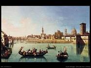 Zocchi Giuseppe Veduta sull'Arno a Firenze