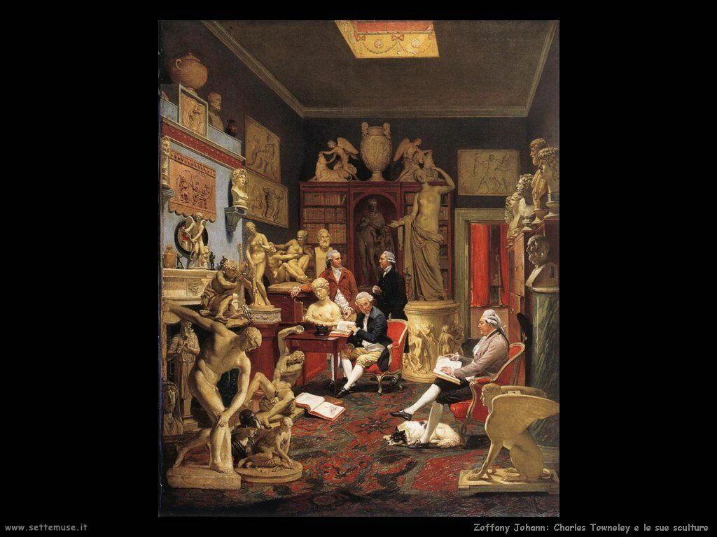 Zoffany Johann Charles Towneley e le sue sculture