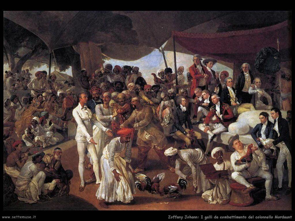 Zoffany Johann Galli da combattimento del colonnello Mordaunt