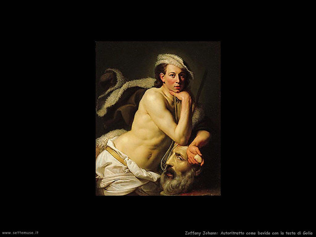Zoffany Johann Autoritratto come Davide con la testa di Golia