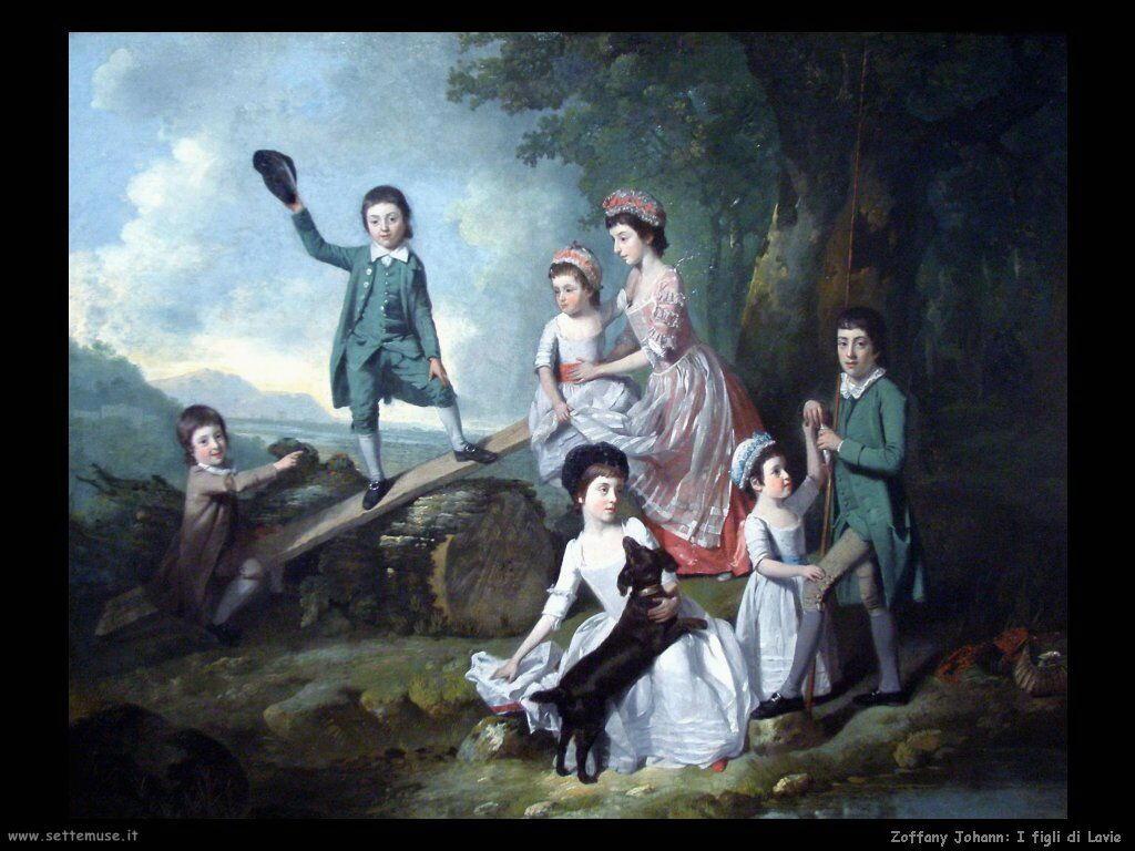 Zoffany Johann I bambini di Lavie