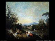 Zuccarelli Francesco Paesaggio con ragazze al fiume