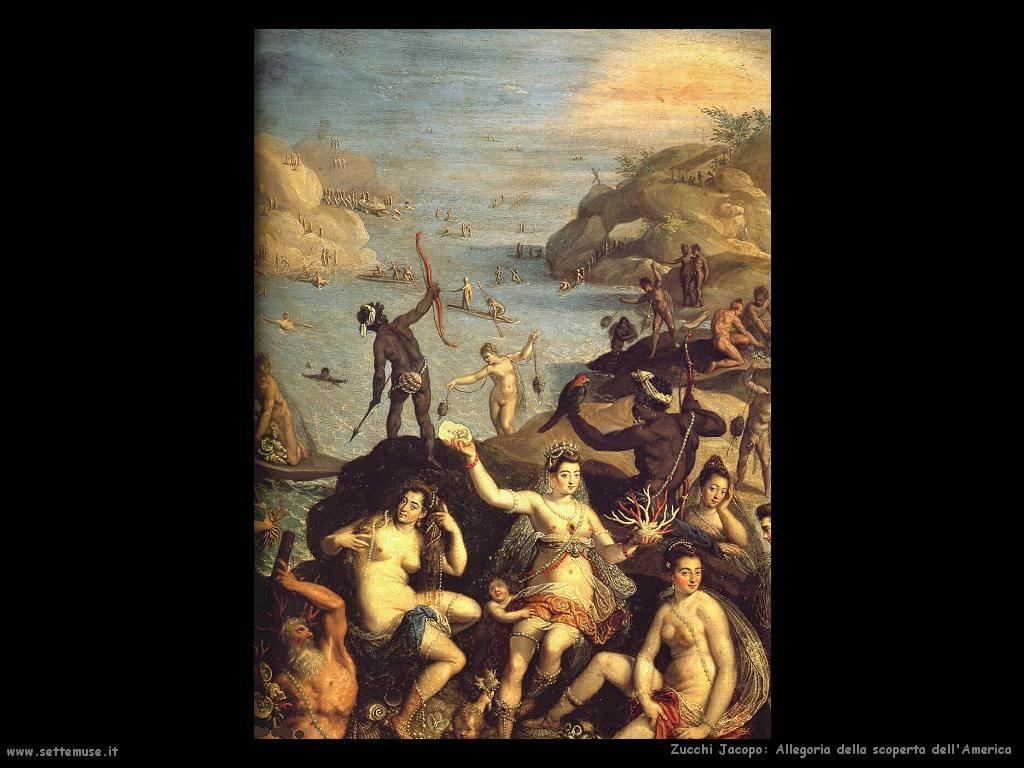 Allegoria della scoperta dell'America Zucchi Jacopo
