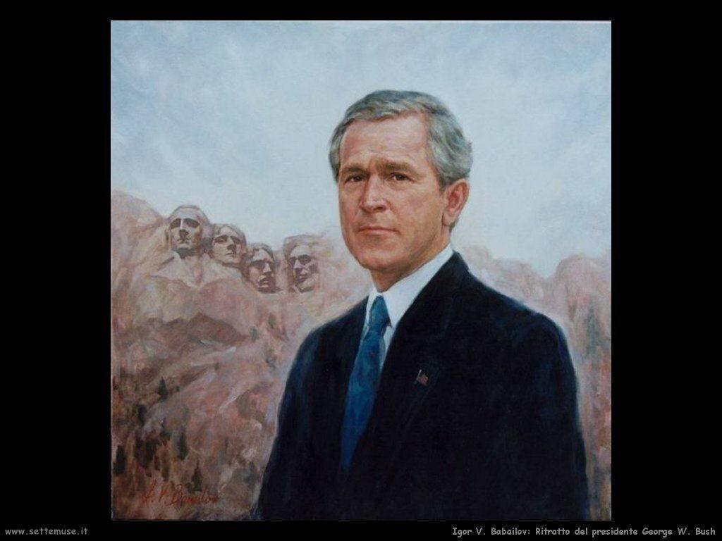 igor_v_babailov Ritratto del presidente George W. Bush