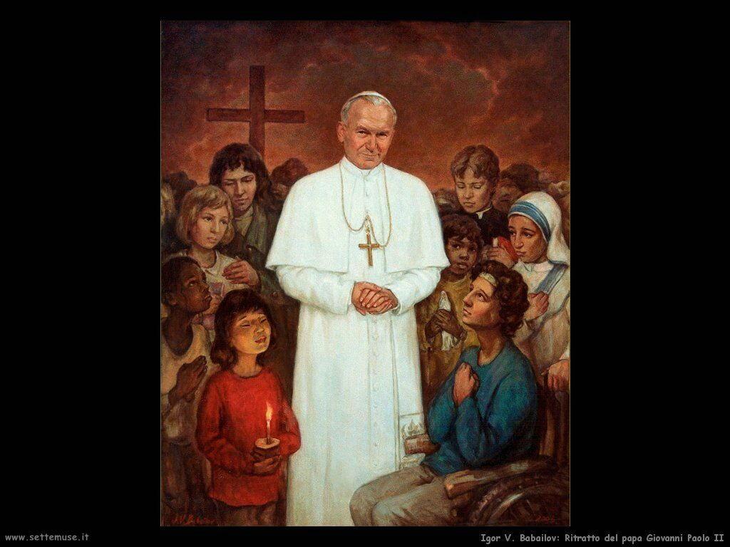 /igor_v_babailov_Ritratto del Papa Giovanni Paolo II