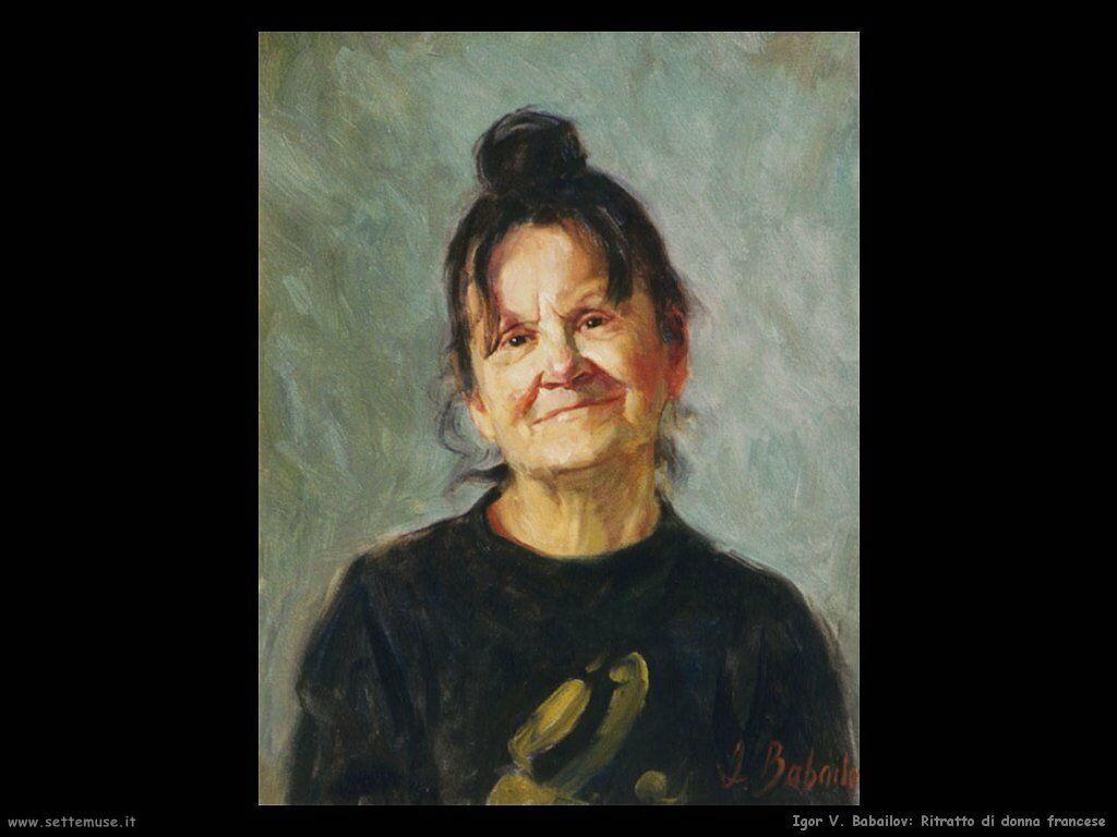 igor_v_babailov Ritratto di una donna francese