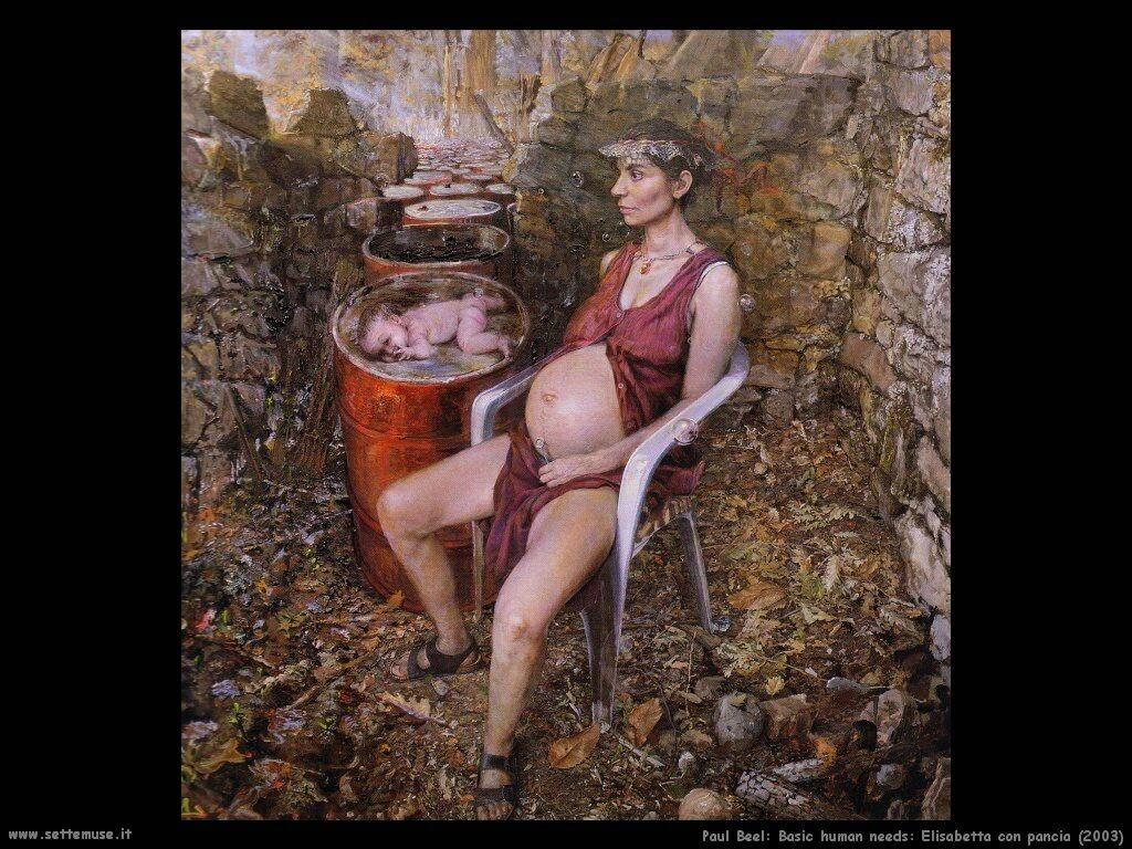 Elisabetta con pancia (2003) Paul Beel
