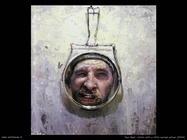Artista con Piccolo specchio curvo (2004) Paul Beel