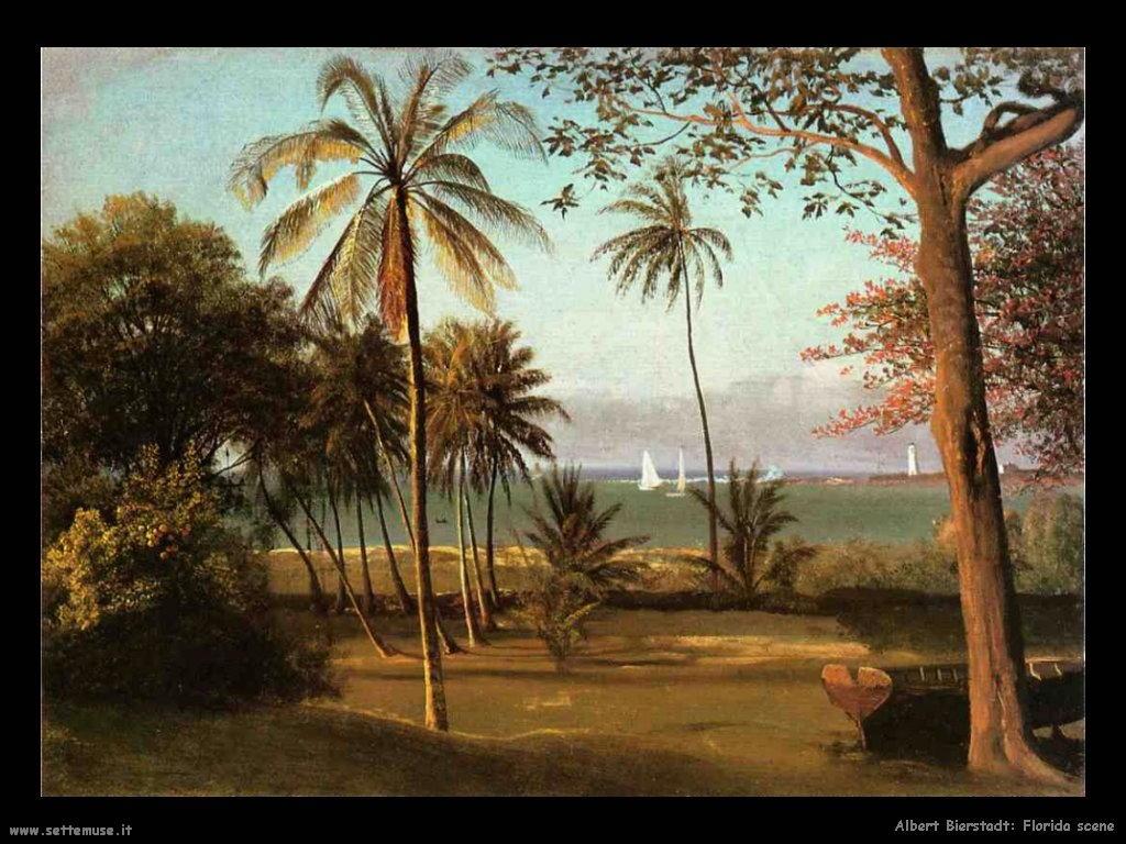 Paesaggio florida Albert Bierstadt