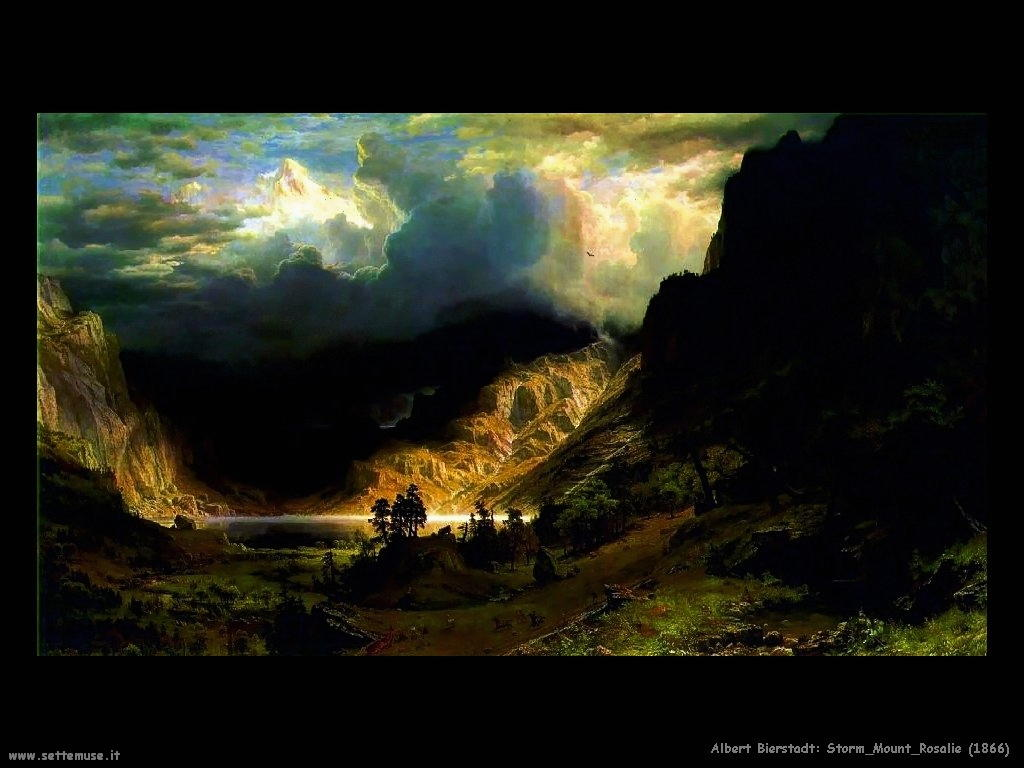 Tempesta sui monti_ rosalie_1866  Albert Bierstadt