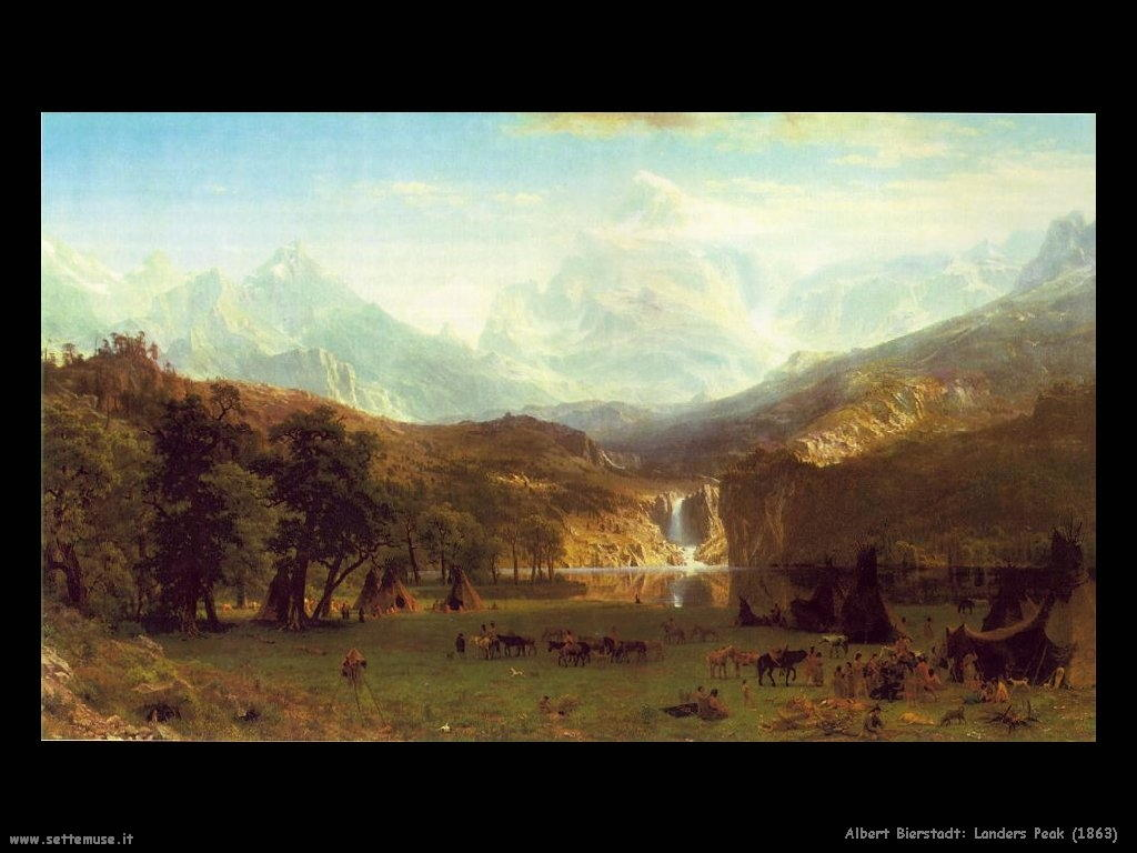 Picco di Landers_1863 Albert Bierstadt