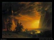 Tramonto nella valle di Yosemite 1868   Albert Bierstadt