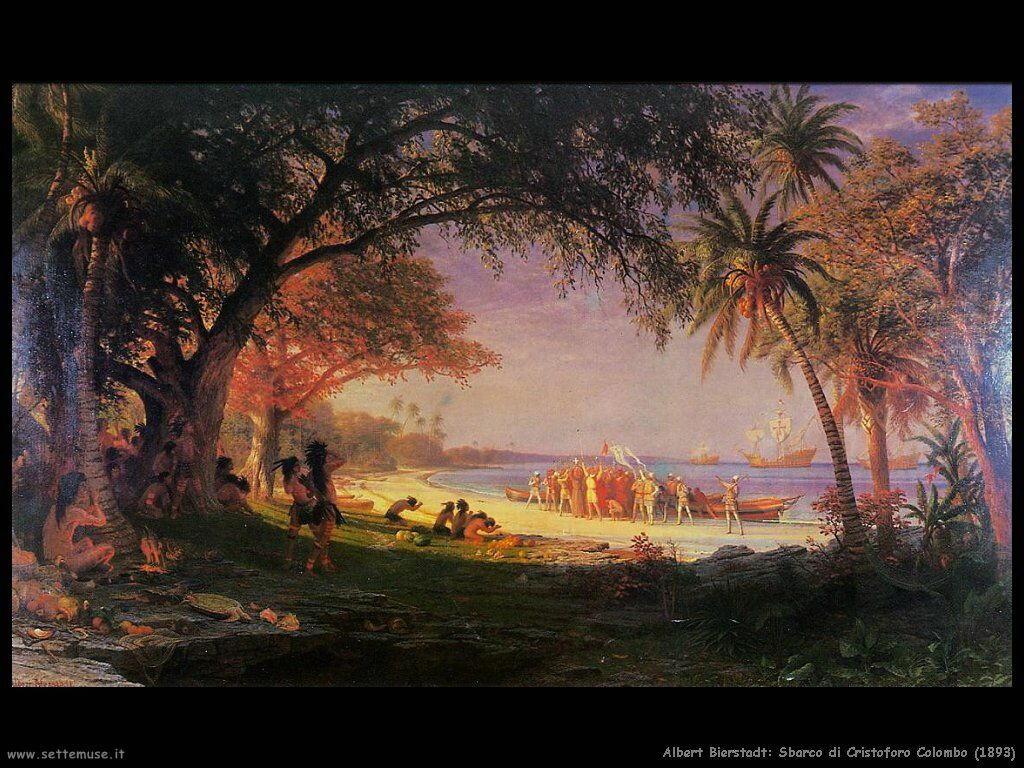sbarco_di_cristoforo_colombo_1893 Albert Bierstadt