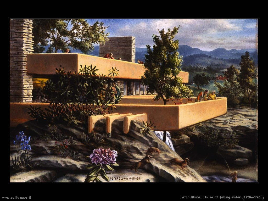 peter_blume_house_at_falling_water_1936_68