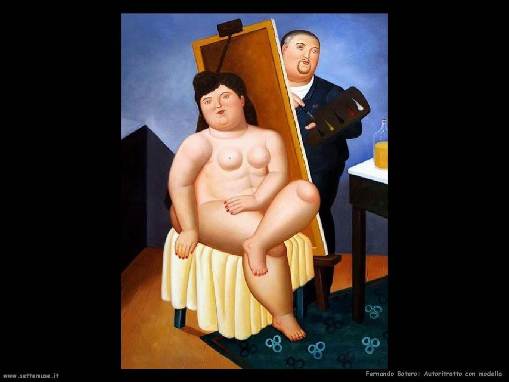 Fernando Botero_autoritratto_con_modella